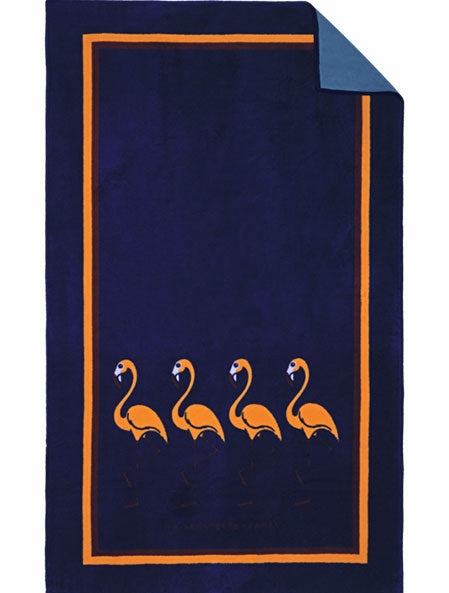 Blue Flamingo Beach Towel - Kids