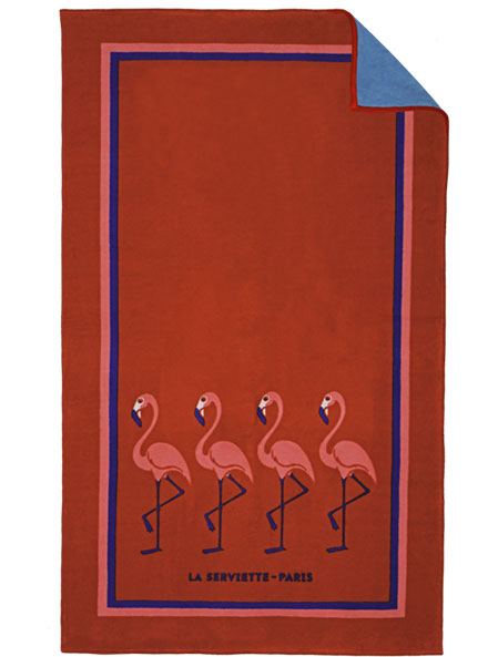 Red Flamingo Beach Towel - Kids