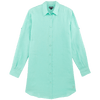 Long Linen Shirt in Mint