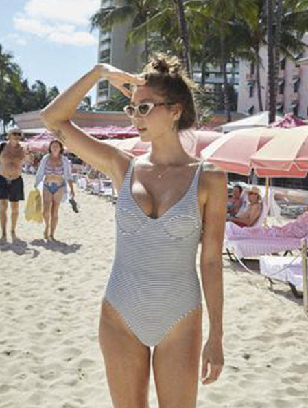 Jane One Piece in Sea Stripe