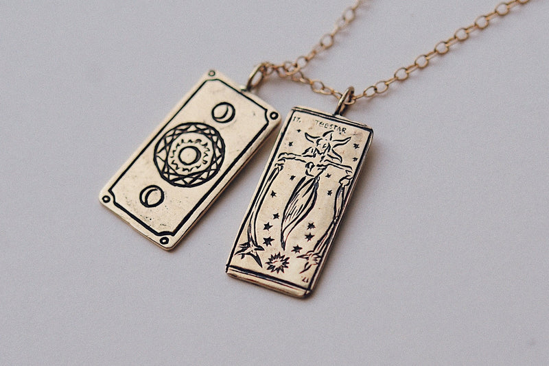 "The Star Tarot Card Necklace w/20"" Chain"