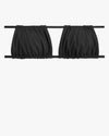 Ruched Bandeau Bikini Top in Black