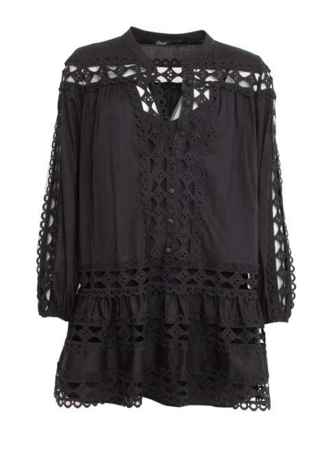 Lace Christina Dress in Black
