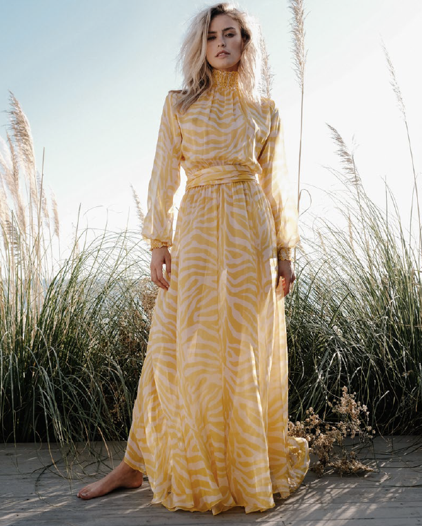 Charlotte Maxi Dress in Safari Sun