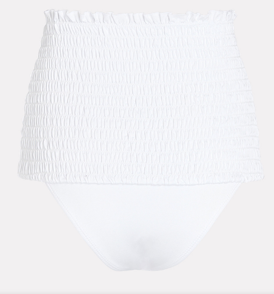Nilo Smocked Bottom in White