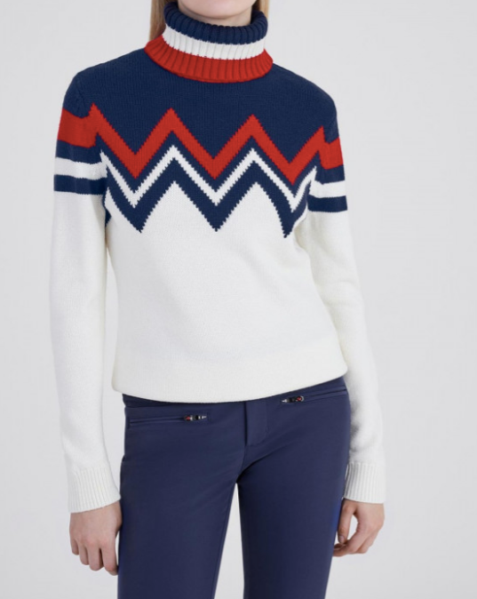 Alpine Sweater in Navy/White