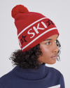 Ski Beanie in Red