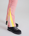 Chevron Flare Pant in Pink