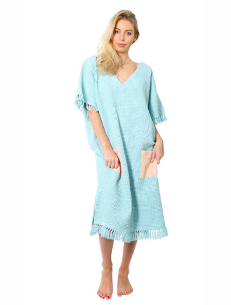 Blue Skies Waffle Beach Dress