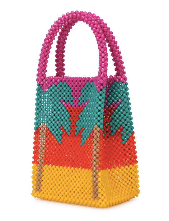 Greta Palm Bag in Red