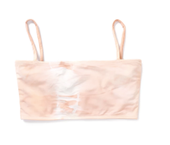 Bandeau Bikini Top In Blush Tie Dye