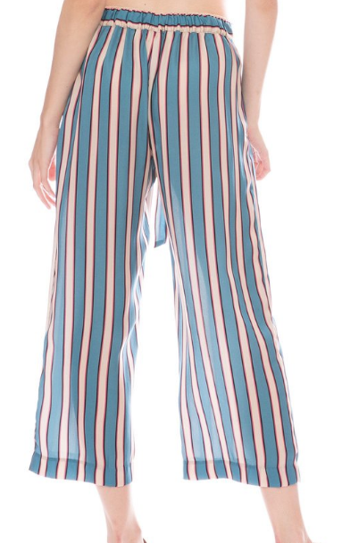 Paloma Pant in Silk Stripe