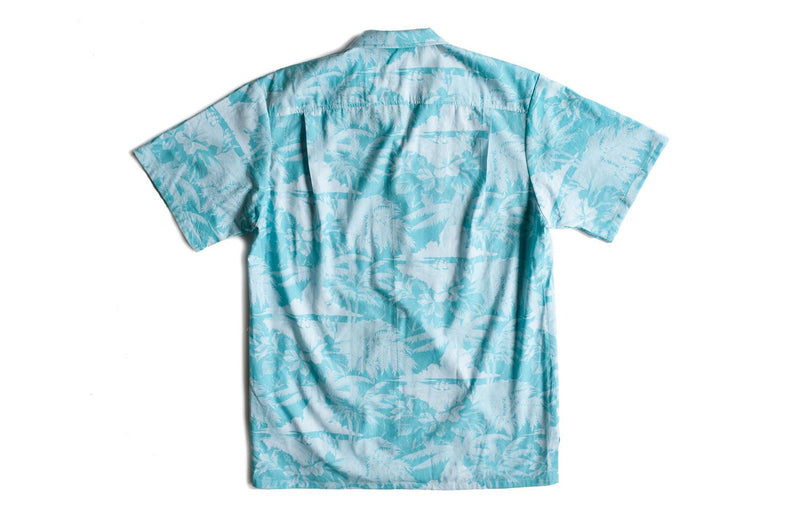 Teal Aloha Camp Shirt