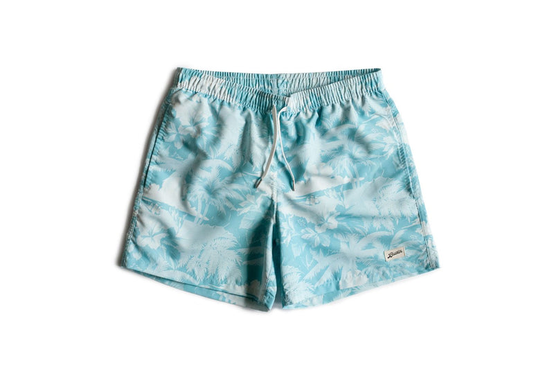 Teal Aloha Swim Trunk
