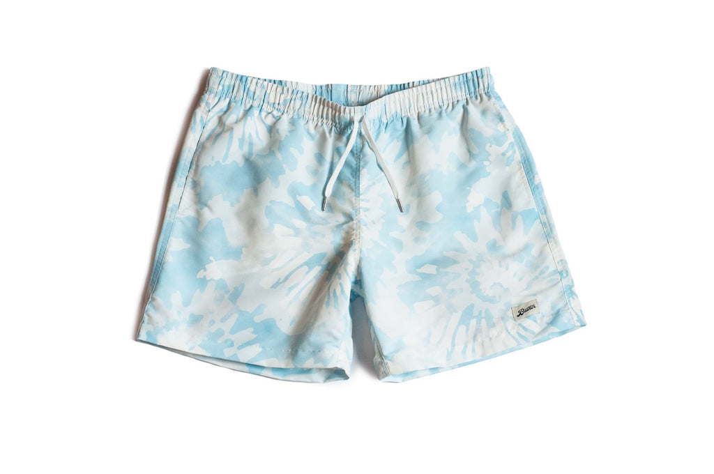 Blue Tie Dye Swim Trunk