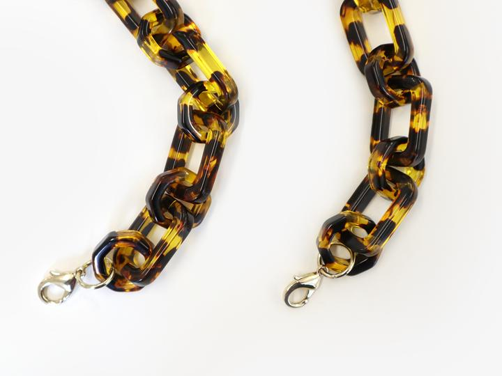Resin Chain Strap in Tort