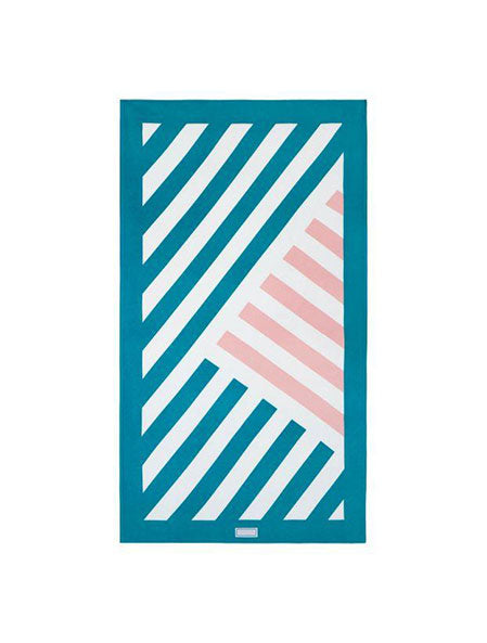 Daniel Beach Towel in Turquoise/Pink