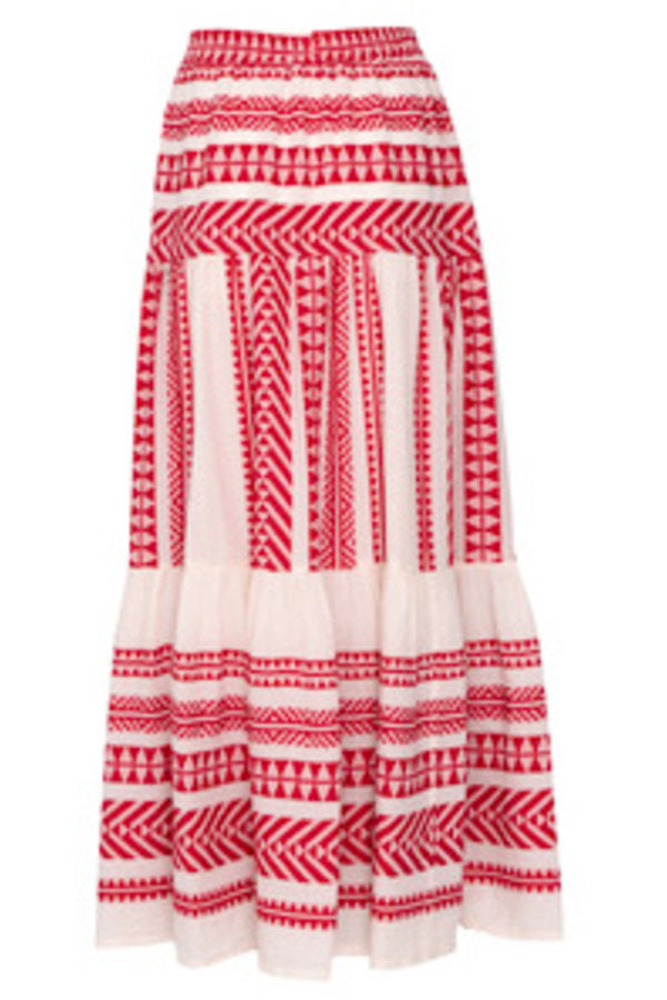 Penelope Red Maxi Skirt