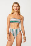 Elvira Knit Stripe Bandeau in Multicolor Metallic