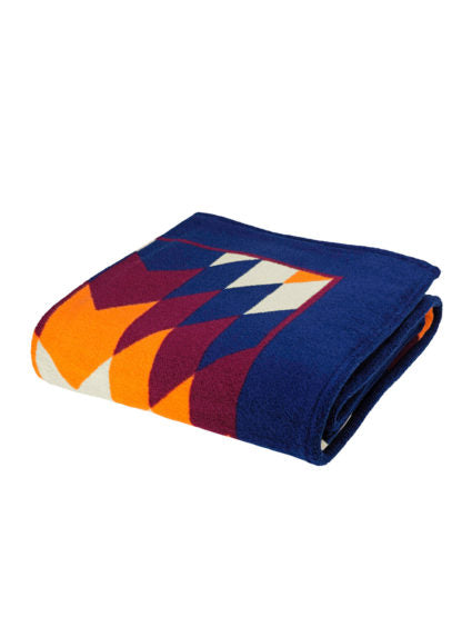 Blue Navajo Beach Towel - COCO CABANA
