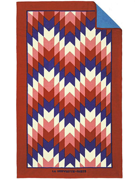 Red Navajo Beach Towel