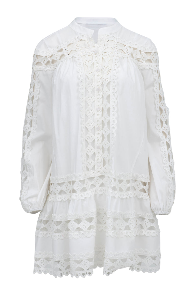 Lace Christina Dress in White