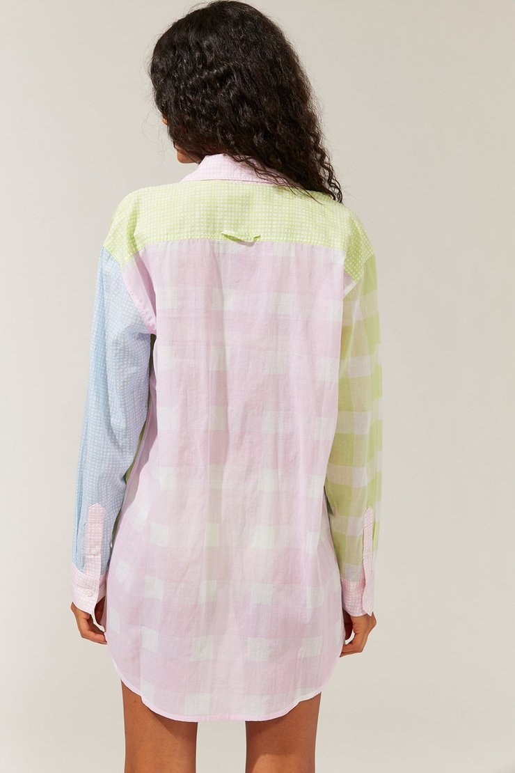 The Oxford Tunic in Painted Gingham/Mini Grid Multi