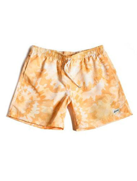 Yellow Tie Dye Swim Trunk