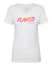 Load image into Gallery viewer, Flawed Human - Ladies V-Neck T-Shirt