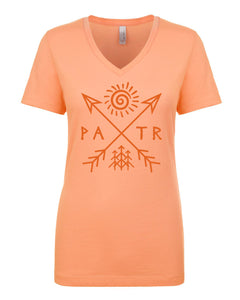 PATR - Petroglyph - Women's V-Neck T-Shirt