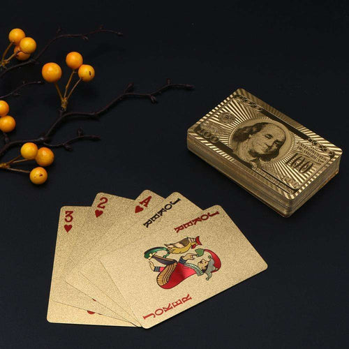 dreamoffer:24k Gold-Plated Playing Cards:Playing Cards