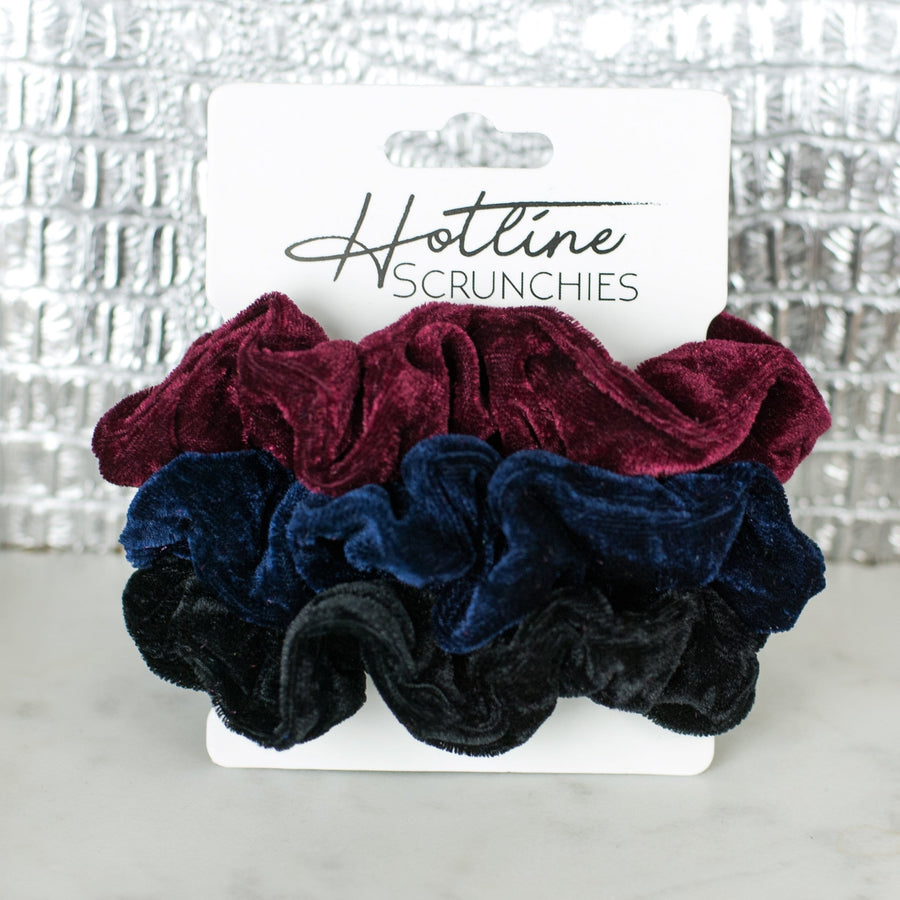 Bumbleberry Velvet Scrunchie Set