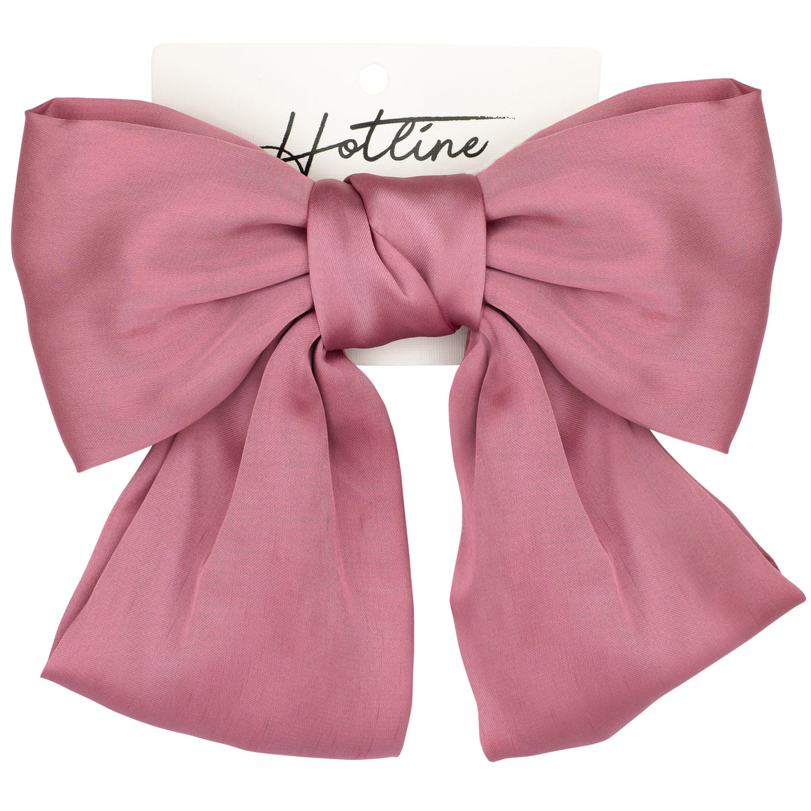 Oversized Bow Barrette in Pink