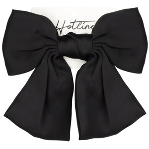 Oversized Bow Barrette in Black