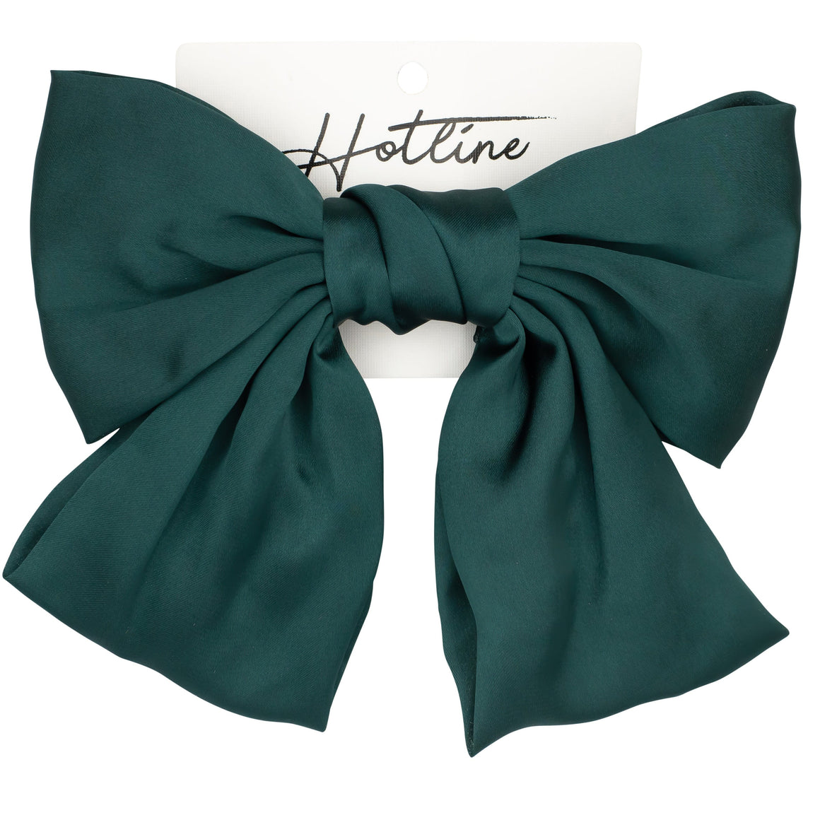 Oversized Bow Barrette in Emerald