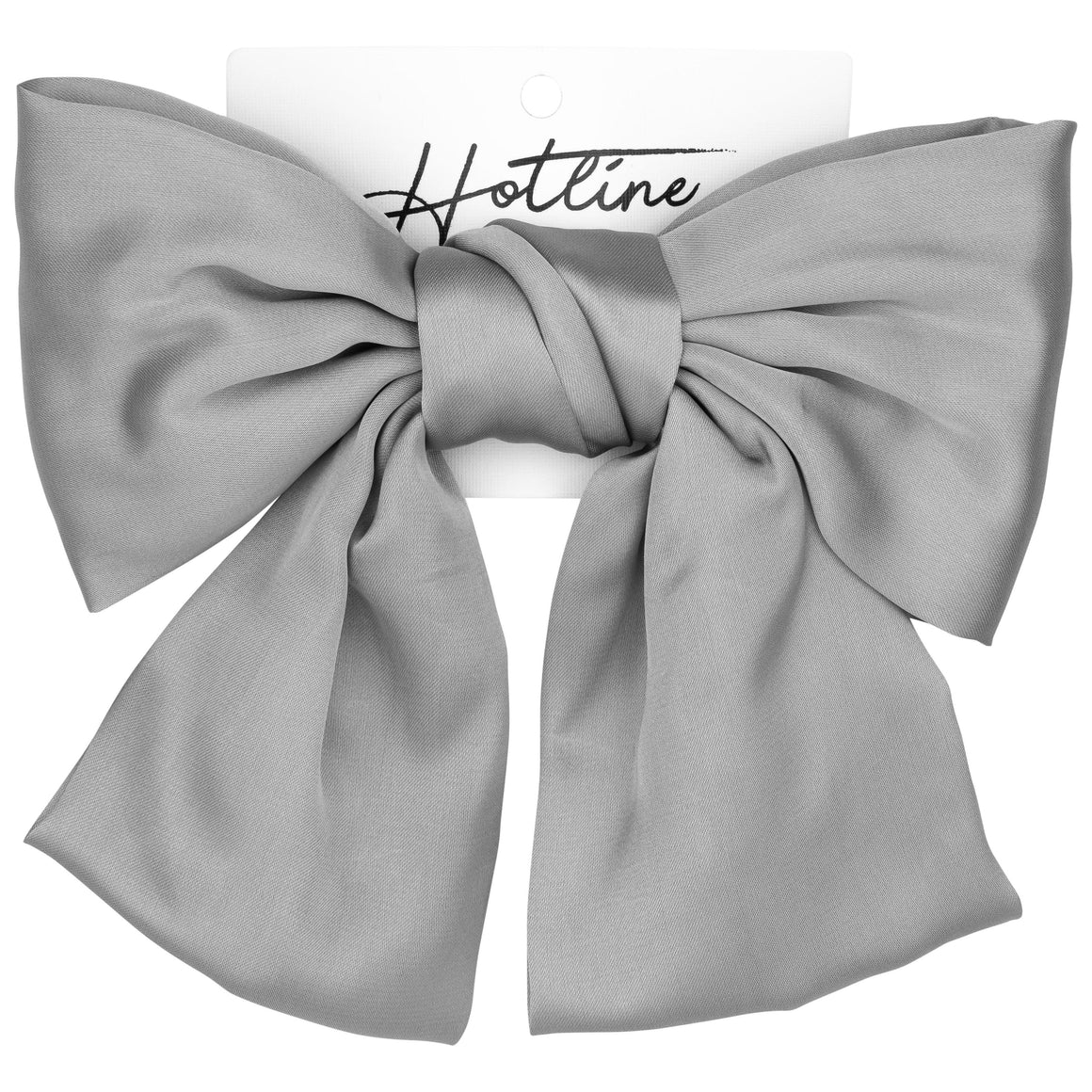 Oversized Bow Barrette in Silver