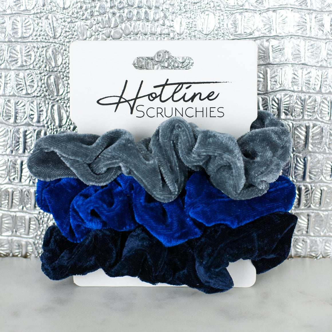 Starry Night Velvet Scrunchie Set