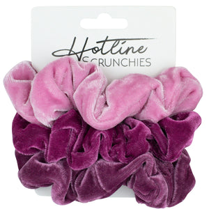 Bubblegum Velvet Scrunchie Set