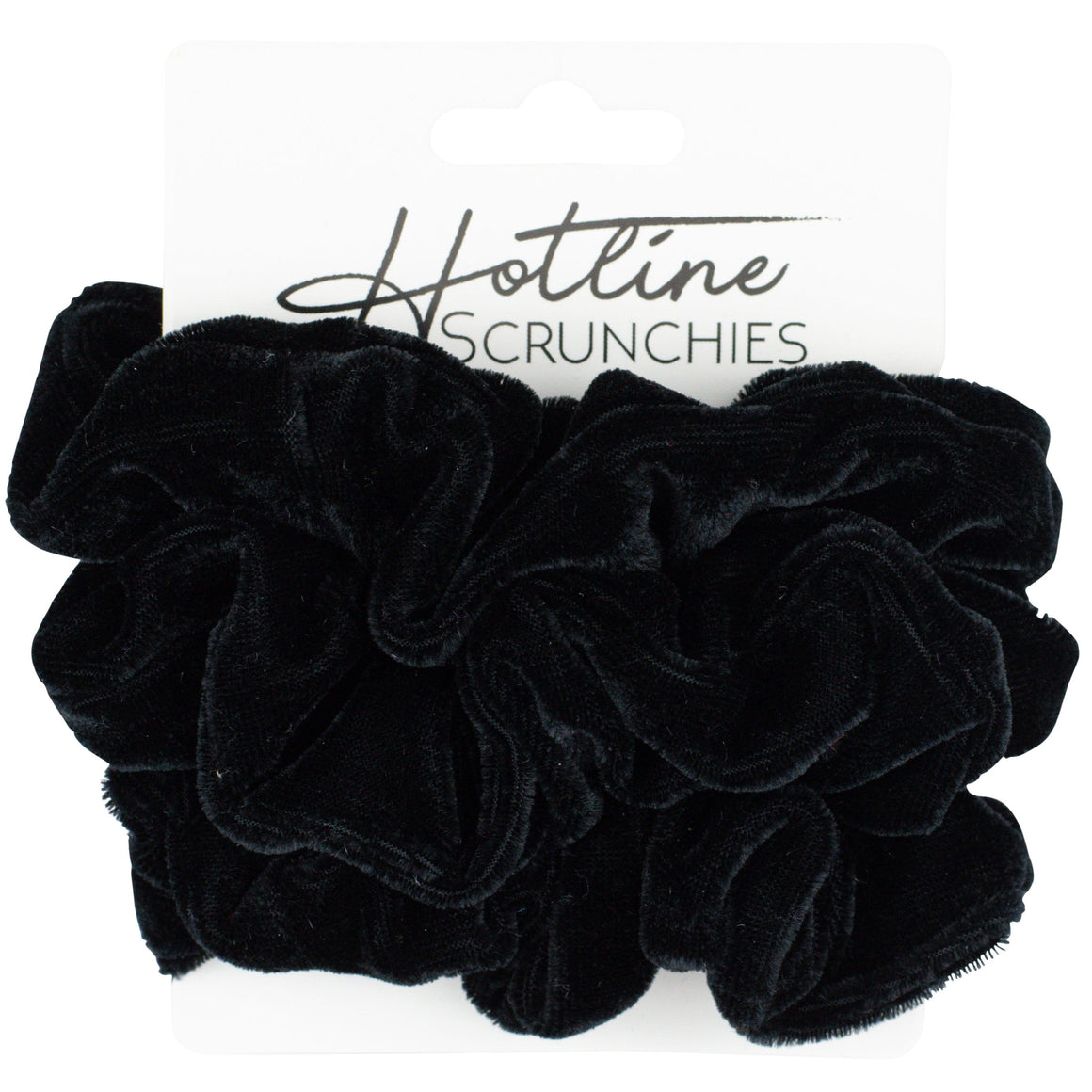 All Black Velvet Scrunchie Set