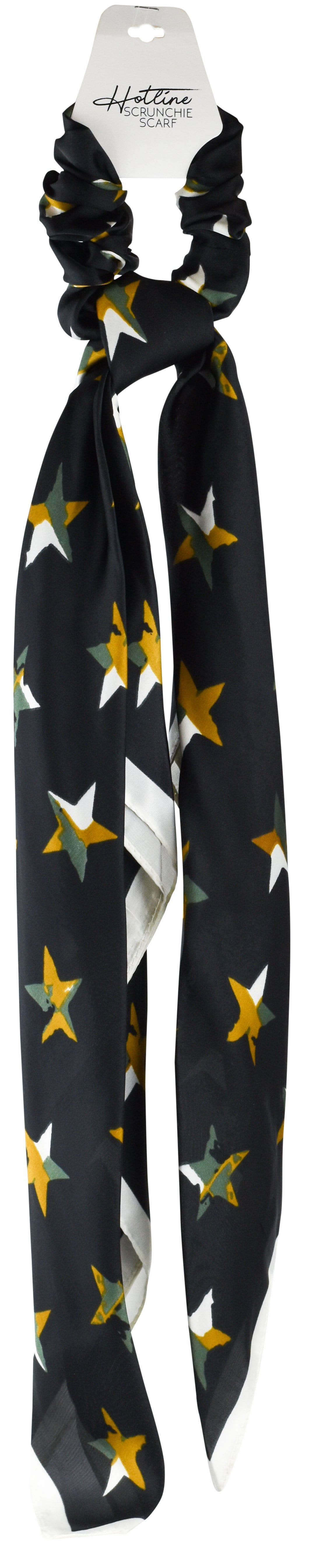 Black Camo Star Scrunchie Scarf
