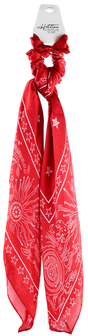 Cosmic Scrunchie Scarf in Red