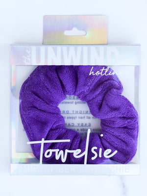 Towelsie Microfiber Scrunchie (Purple)
