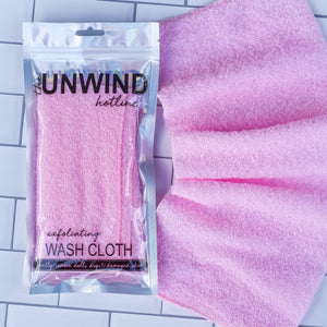 Exfoliating Stretch Wash Cloth (Pink)
