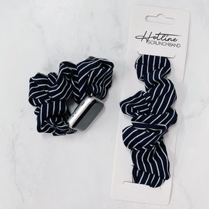 Midnight Blue Stripe Scrunchband