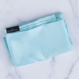 Satin Pillowcase (Mint/Blue)