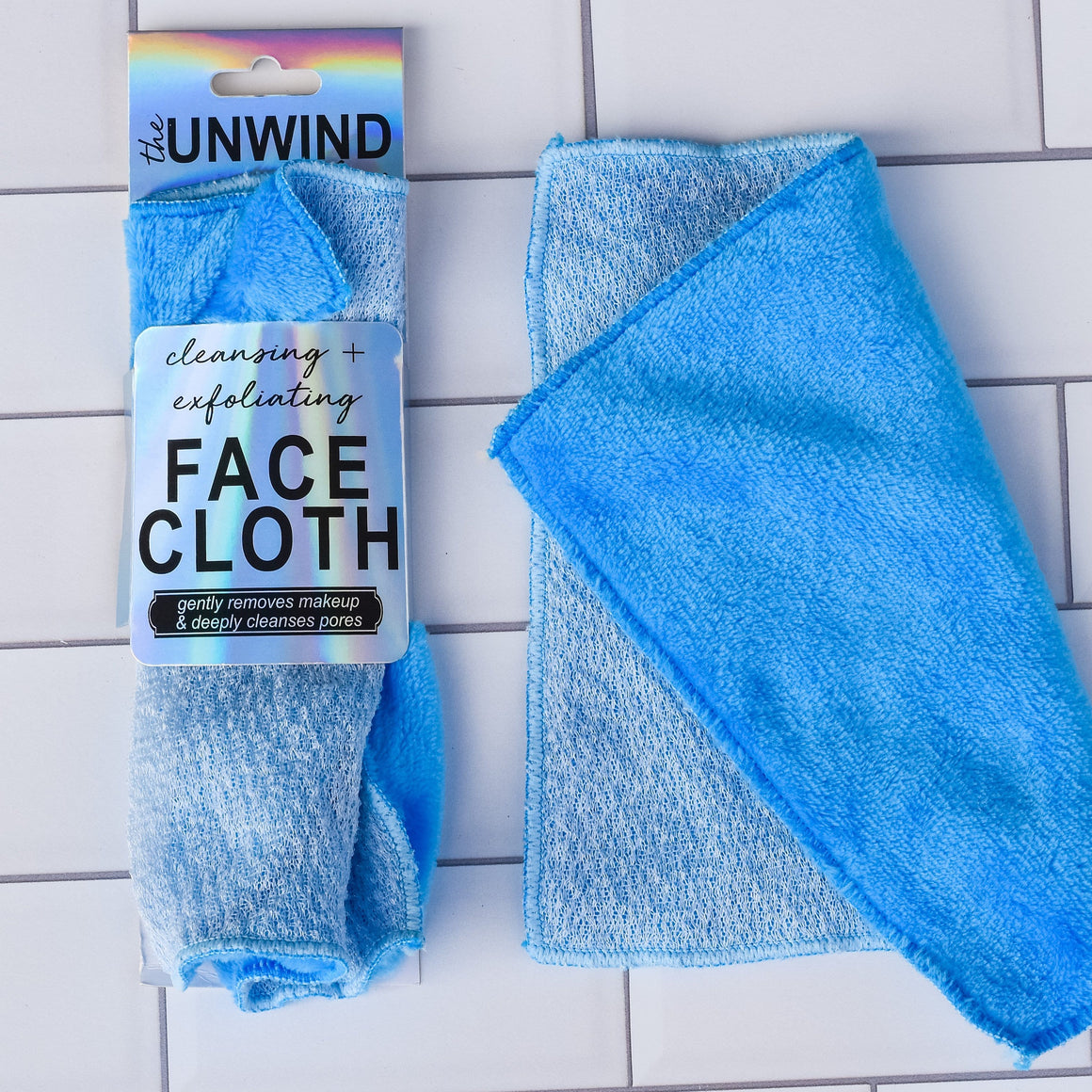 Exfoliating & Cleansing Dual Texture Face Cloth (Blue)