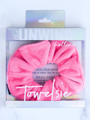 Towelsie Microfiber Scrunchie (Hot Pink)