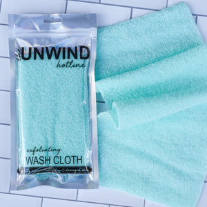 Exfoliating Stretch Wash Cloth (Mint)
