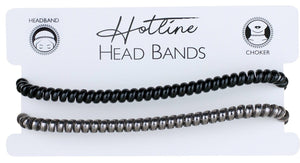 Black & Gray Headband Set