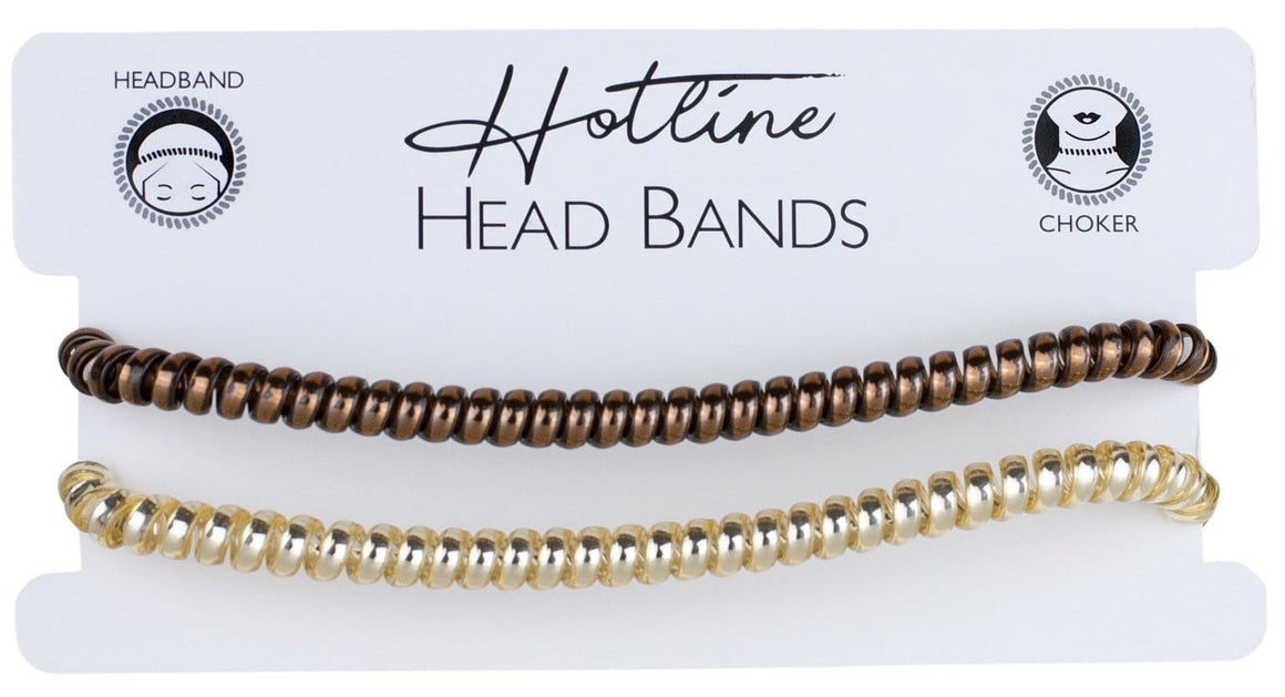 Brown & Gold Headband Set